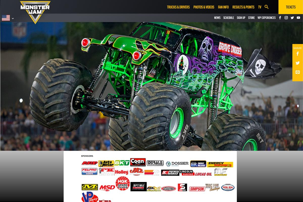 Energy Release Sponsored Grave Digger and Feld Motorsports