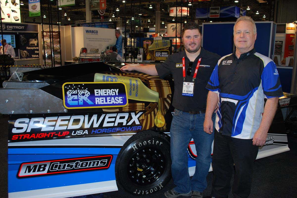 Energy Release Sponsored Jeremy Houle #54 - Speedwerx | Jeremy with Noel Schanilec - SEMA Show Las Vegas