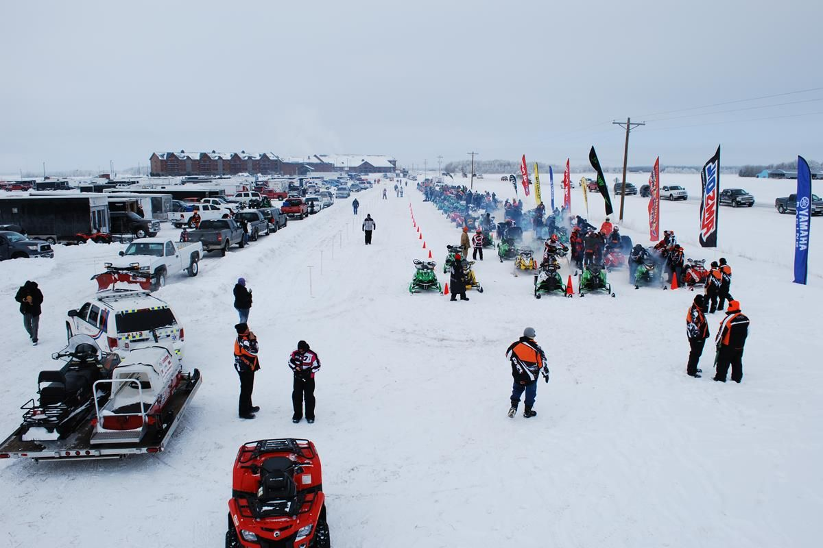 USXC Snowmobile Racing Series | Seven Clans Casino I-500 Staging Area