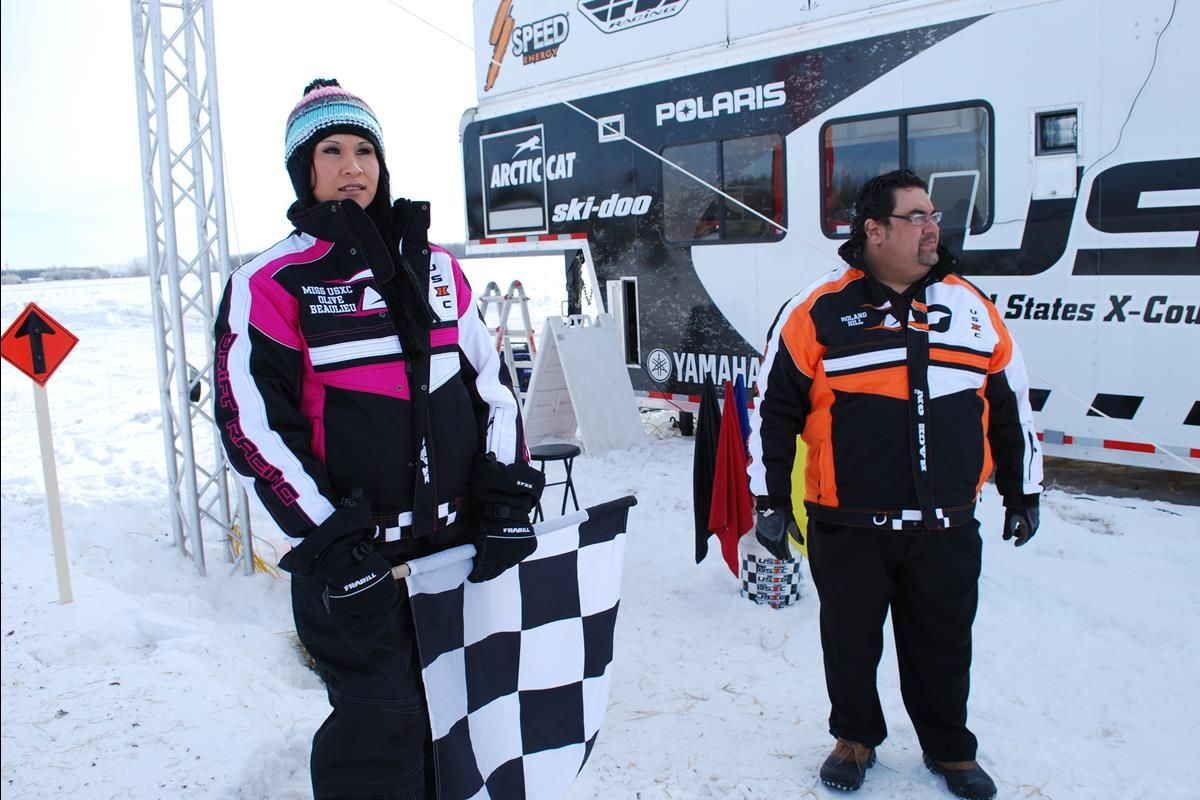 USXC Snowmobile Racing Series | Seven Clans Casino I-500 | Olive Beaulieu - Miss USXC