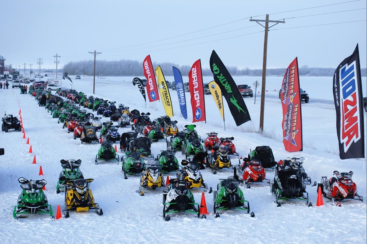 USXC Snowmobile Racing Series | Seven Clans Casino I-500 Staging Area | Thief River Falls, Minn.
